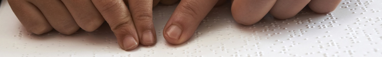 Hands being used to read brail